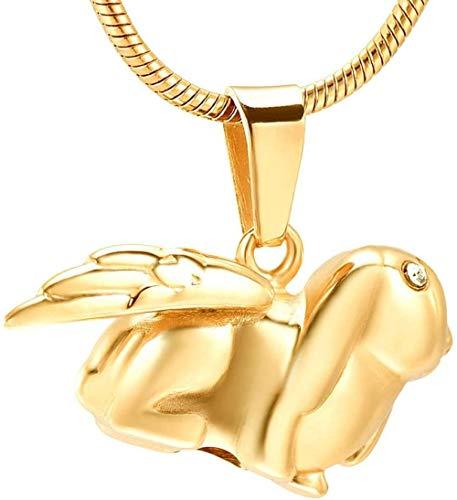 Halskette für Asche Asche Halskette für Verbrennung Schmuck Cremation Necklace Ashes Souvenir Necklace Pendant Pet Rabbit Angel Wings Lady Accessories Jewelry Memorial Ashes Necklace Store Ashes Souv