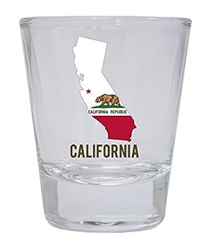 California Republic State Flag Bear Souvenir Round Shot Glass