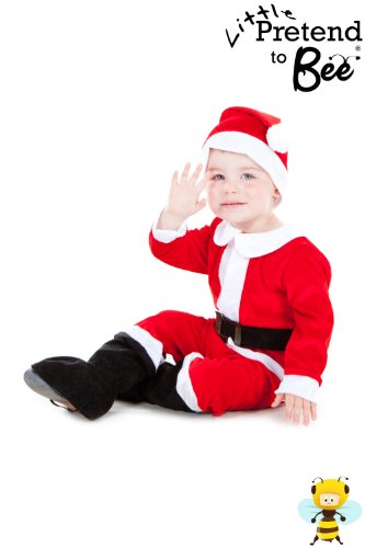 Childrens Toddler Cute Little Santa Suit Christmas Costume 3 - 5 Years