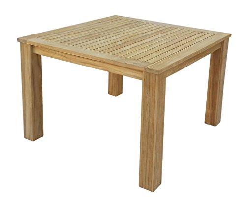 GRASEKAMP Qualität seit 1972 Teak Tisch 100x100 cm Esstisch Gartenmöbel Gartentisch Holztisch