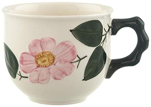 Villeroy und Boch Wildrose Kaffeetasse, 250 ml, Höhe: 8 cm, Premium Porzellan, Weiß/Bunt