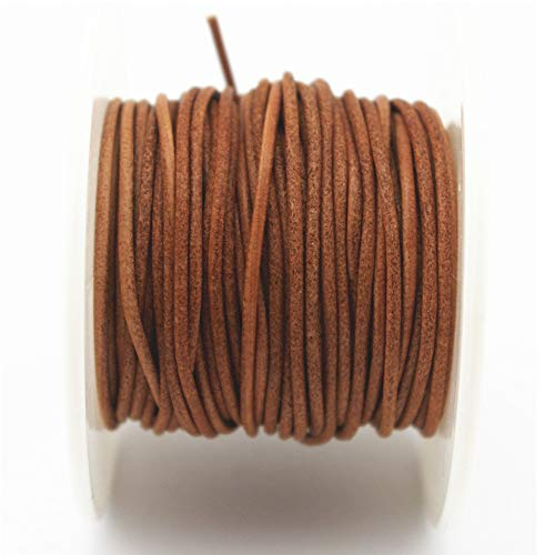 Glory Qin Soft Round Genuine Jewelry Leather Cord Leather Rope (Natural 1.5mm 10Yards)