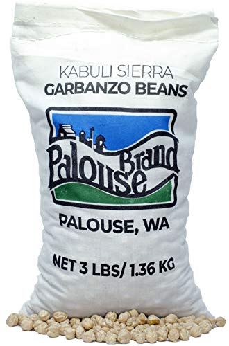 Garbanzo Beans • Chickpeas • 100% Desiccant Free • 3 lbs • Non-GMO Project Verified • Kosher Parve • USA Grown • Field Traced • Cotton Bag