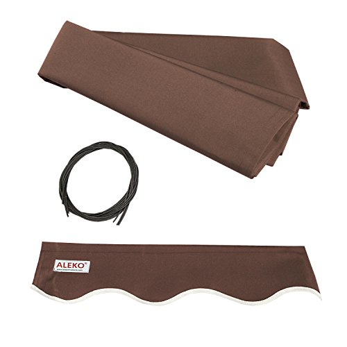ALEKO FAB10X8BROWN36 Retractable Awning Fabric Replacement 10 x 8 Feet...