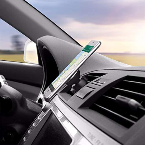 Shot Case autohouder voor iPad Mini 4 smartphone, magnetisch, met magneet, universele ventilator, 360 draaibaar, zwart