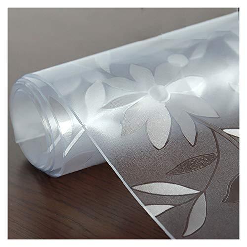 GHHZZQ Manteles Impermeable Antideslizante Durable Cubierta de Mesa Paño PVC Vidrio Blando Textura de Crisantemo Decora y Mejora El Ambiente del Hogar, Varios Tamaños