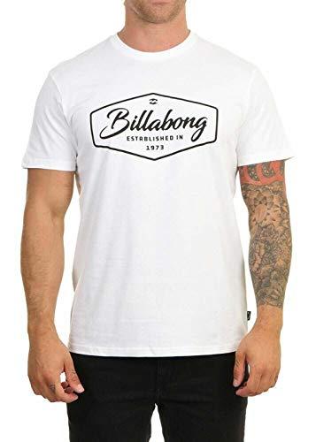 Billabong NA Pali SAS, Hossegor Herren T-Shirt Trademark - T-Shirt Für Männer, White, M, U1SS53