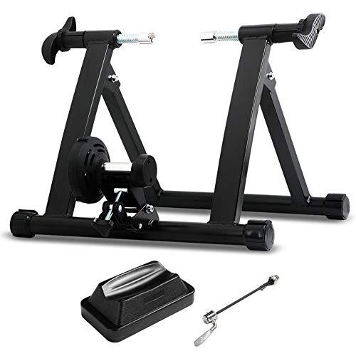 GSTARKL Entrenamiento Bicicleta Rodillo, Bicicleta de Acero Premium Bicicleta para Ejercicios en Interiores Bicicleta de Entrenamiento estacionaria Soporte para Entrenadores
