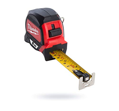Milwaukee 48227308 Hp8mg/27 Premium Mag Mètre à ruban – Rouge/Noir