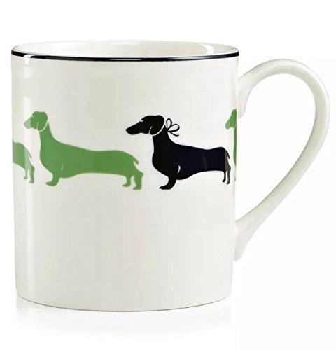 Set of 2 Kate Spade of New York Wickford Daschund Coffee Mug (10 oz)