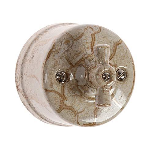 Interruptor de antiguos porcelana interruptores de luz vintage rotativo 10A 240V