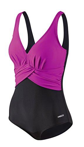 Beco Damen C-Cup Aqua Badeanzug, pink/Schwarz, 48