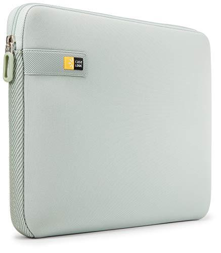 Case Logic LAPS Notebook Hulle fur 14 Zoll Laptops ultraschmales Sleeve ImpactFoam Schaumpolsterung fur Rundumschutz Laptop Tasche ideal fur Chromebook oder Ultrabook Aqua Gray