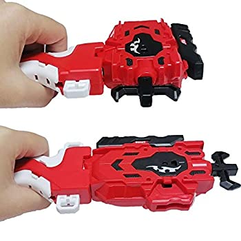 Speder Bey Gyro Blades Launcher and Grip  Battling Burst String Launcher Gyro Light Sparking Left&Right LR Spin Top Compatible with All Bey Burst Series Bey Battling