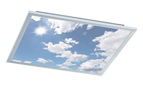 WOFI A LED Deckenleuchte Metall 44 W Integriert 600 x 55 x 600 cm, Silber 9693.01.70.6600