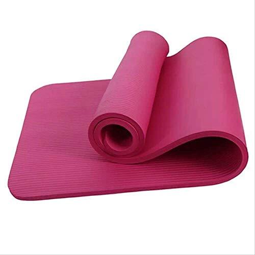 Mengzhifei - Esterilla de yoga (grosor 30 mm, extra gruesa, 20 mm, 80 esterilla de yoga antideslizante, sin sabor, 40 deportes, 50 unidades), color morado, rojo