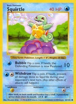 Pokemon - Squirtle (63/102) - Base Set