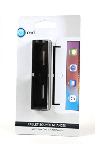 ONN Tablet Sound Enhancer (Directional Sound Amplification) (Black, White)