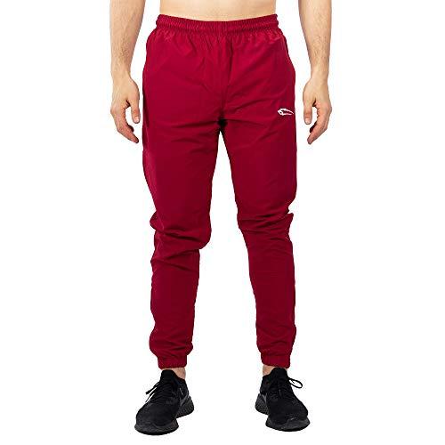SMILODOX Herren Jogginghose Statement | Trainingshose für Sport Fitness Gym Training & Freizeit | Sporthose - Jogger Pants - Sweatpants Hosen, Größe:XXL, Farbe:Bordeaux