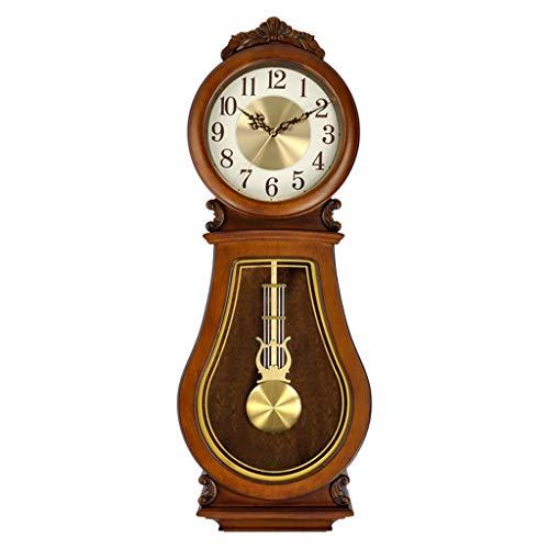 Pendulum Klok - Massief Hout Klassieke Wandklok - Woonkamer Creatieve Kunst Pendulum Klok - Uur Tijdbehoud Wandmontage