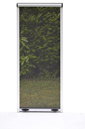 Biacchi Ettore Insektenschutzrollo mit Aluminiumrahmen, geeignet für Fenster und Türen, Weiß, Braun, bronzefarben, 100 x 170cm