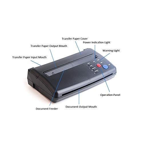 Kecheer Tattoo Transfer Stencil Machine, Roeam Drawing Thermal Stencil Maker Copier for Tattoo Transfer Paper, US Plug