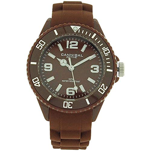 Cannibal Active Unisex Kids Brown Dial & Brown Rubber Strap Watch CK215-29
