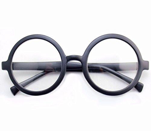 Kinder Durchsichtig Gläser Rund Schwarz Brillen Kostüm Zubehör