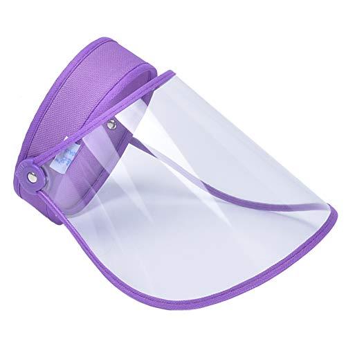 FEOYA Sombrero con Escudo Visera para los Ojos contra el Polvo Protección Multifuncional prevenir la Saliva de Cara Completa