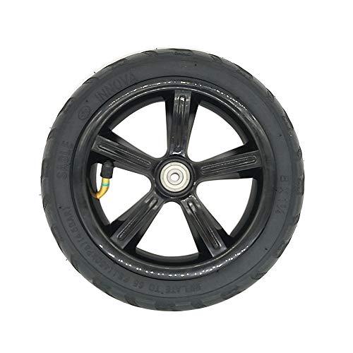 Rueda de Repuesto para Scooter, neumático de Scooter eléctrico portátil de 8 Pulgadas, neumático Exterior Antideslizante, Inflable/sólido, Rueda de Repuesto para neumático Delantero/Trasero