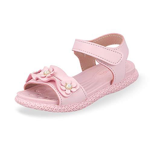 Sandalias con Punta Abierta para Niñas Pequeñas Niño Infantiles Zapatos de Vestir Calzado Verano para 1-6 Años (Rosado, EU 22)
