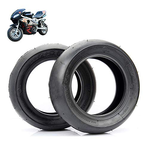 WYDM Neumáticos sin cámara Lisos 90/65-6,5/110 / 50-6,5, adecuados para Accesorios de neumáticos Delanteros y Traseros de Motocicletas Small/Coches Deportivos pequeños de 49 CC