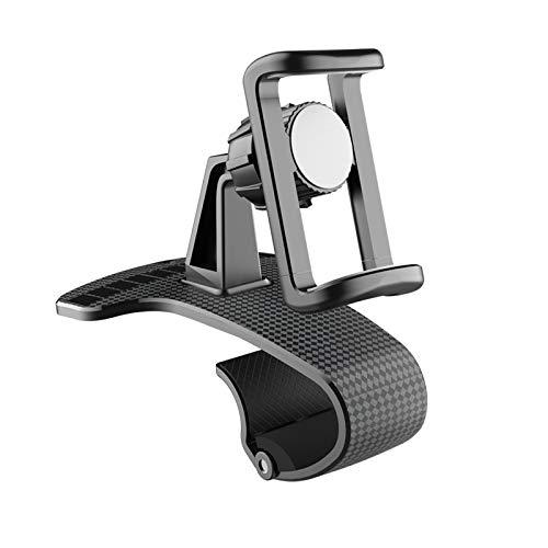 Laiashley Soporte universal para teléfono con rotación de 360 grados, soporte para teléfono para coche, soporte de clip para número de aparcamiento