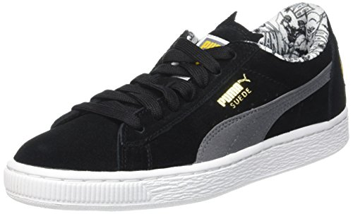 Puma Suede Batman Low-Top, Schwarz Black-Steel Gray 01, 36 EU