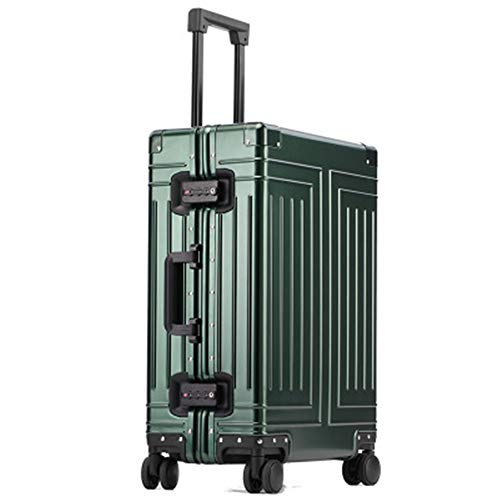 Wujiancheng Luggage Sets All Aluminum Magnesium Alloy Luggage Box Universal Wheel Trolley Case 26 Inch Aluminum Alloy Suitcase Travel (Color : C5, Size : 24inch)