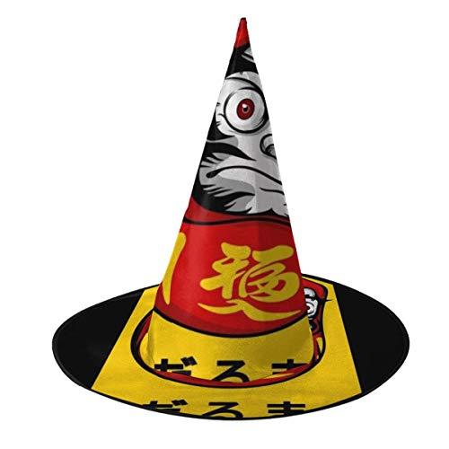 OJIPASD Daruma-Puppe Hell Hexenhut Halloween Unisex Kostüm für Urlaub Halloween Weihnachten Karneval Party