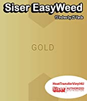 Siser EasyWeed アイロン接着 熱転写ビニール - 15インチ 25 Yards ゴールド HTV4USEW15x25YD
