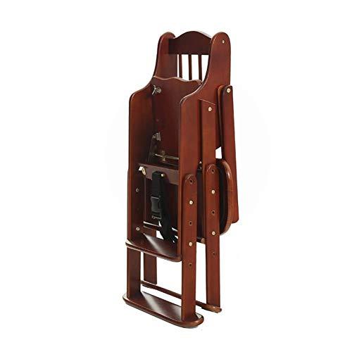 WJYY Mode Creative Petits meubles Anti-Slip Tabouret Chaise haute bébé Table à manger Chaises pliantes et réglable en bois massif pour enfants multifonctions Table multifonctions Creative ménages,mar
