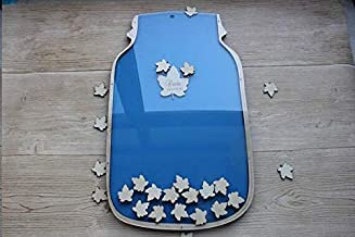 Customized Wedding Keepsake Guest Book Drop Box,Personalized Name with Leave Wedding Guest Book,Unique Maple Leaves Wedding Guest Book