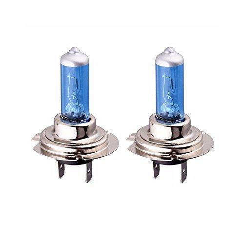 Coffret 2 ampoules Xenon Bleu 12V H7 55W de Rechange Feu de Route Croisement - 887