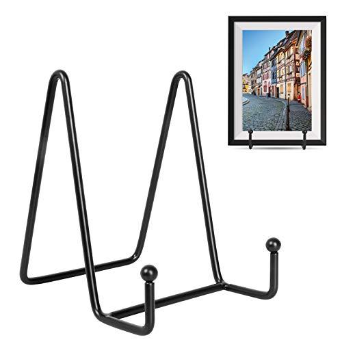 Lhedon 4 Pack Plate Stands for Display4 Inch Black Iron Easel Plate Holder Display Stands Metal Frame Holder Stands for PicturesBookDecorative PlatesTablets and Art