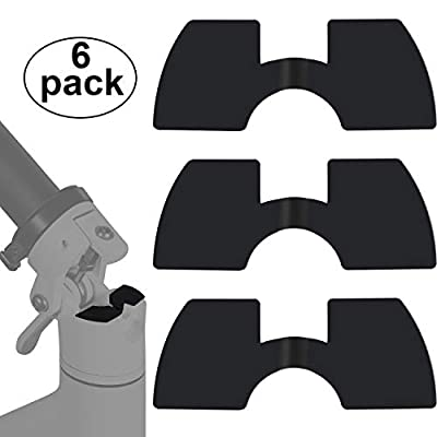 Gejoy 6 Piece Rubber Vibration Dampers Compatible with Xiaomi M365 Avoid Damping Rubber Electric Scooter Replacement Part Accessory