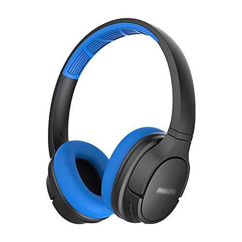 Auriculares Auriculares a Prueba de Agua Auriculares sobre el oído Deportivos Bluetooth Auriculares Pasivo Ruido Cancelación Auriculares para Gimnasio Running Workout Gaming (Color : Blue)