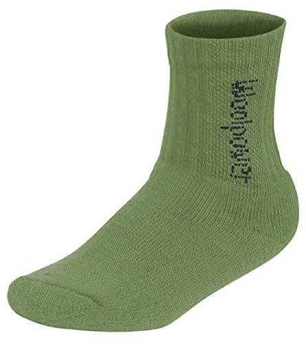 Woolpower Kids Socks Logo 400, 32-35, turtle green