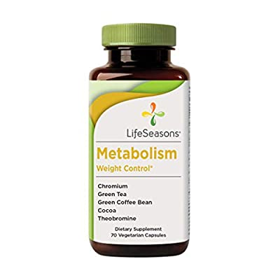 LifeSeasons - Metabolism - Weight Control Support and Energy Booster Supplement - Natural Appetite Suppressant - Mood Enhancement - Chromium, Apple Cider Vinegar and Cocoa Bean Extract