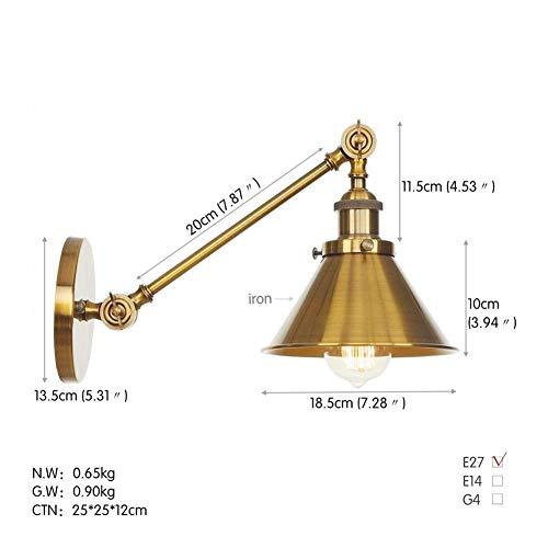 Wandlamp wandlamp glas spiegel voorlicht industriële wandverlichting landelijke stijl creatieve verlichting goud zwenkbaar