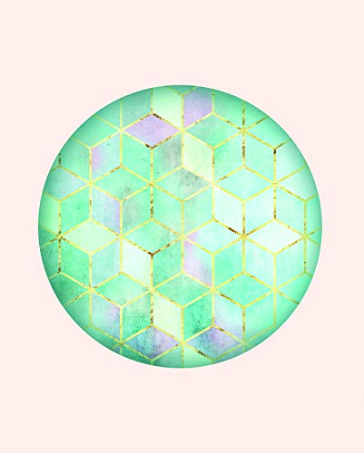 Komar Väggmålning | Mosaik Circle Verde | affisch, bild, vardagsrum, sovrum, dekoration, konsttryck | utan ram | P093C-40x50 | Storlek: 40 x 50 cm (bredd x höjd)
