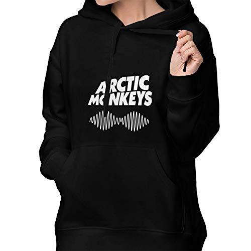 Women's Sweater Arctic Monkey Cotton Hoodies M Black