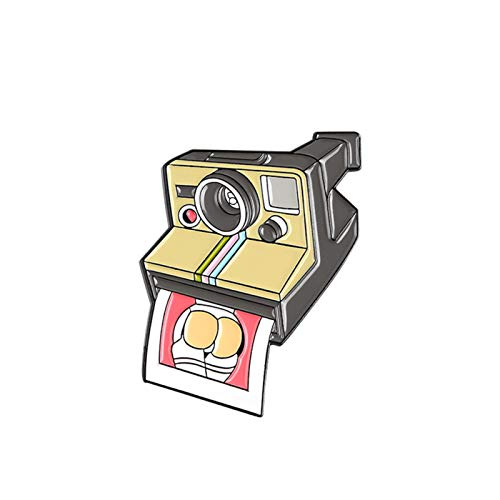 Brosche, modische Cartoon-Kamera-Brosche, Emaille, Legierung, Anstecknadel, Anstecknadel, Anstecknadel, Jeansjacke, Dekor – Kamera #