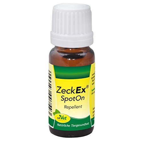 cdVet ZeckEx SpotOn rein pflanzliches Zeckenmittel 10 ml - natürlicher Zeckenschutz ohne Chemie für Hunde, Katzen und alle Wirbeltiere